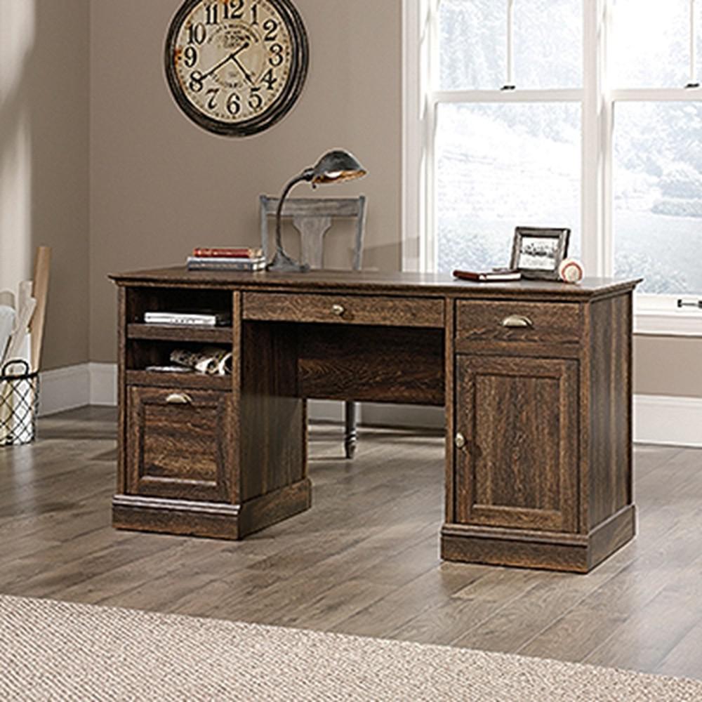 Etonnant SAUDER Barrister Iron Oak Executive Desk