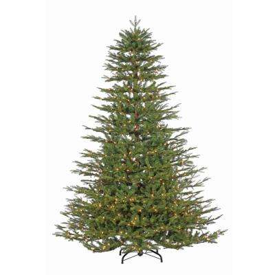 7.5 ft. Pre-Lit Natural Cut Northwoods Spruce Artificial Christmas Tree with Power Pole