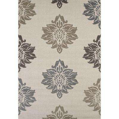 Souffle Cream 5 ft. 3 in. x 7 ft. 6 in. Area Rug