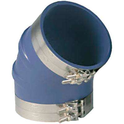6 in. VHT Silicone 45 Degree Elbow, Blue