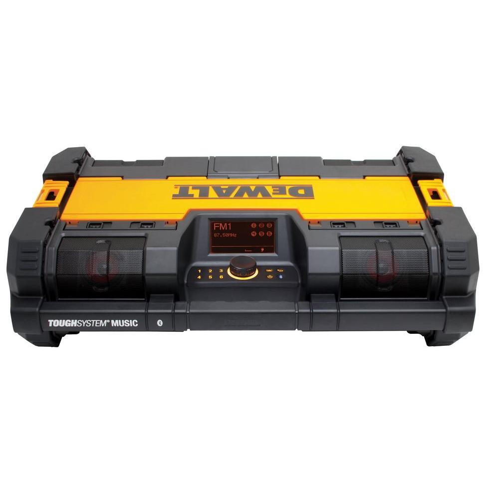 DeWalt ToughSystem 14-1/2 in. Portable and Stackable Radio/Digital Music Player with Bluetooth and Battery Charger