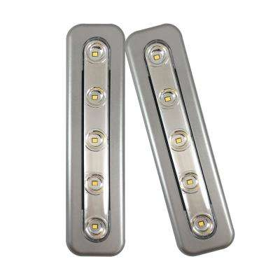 Mini Task LED Silver Under Cabinet Light (2-Pack)