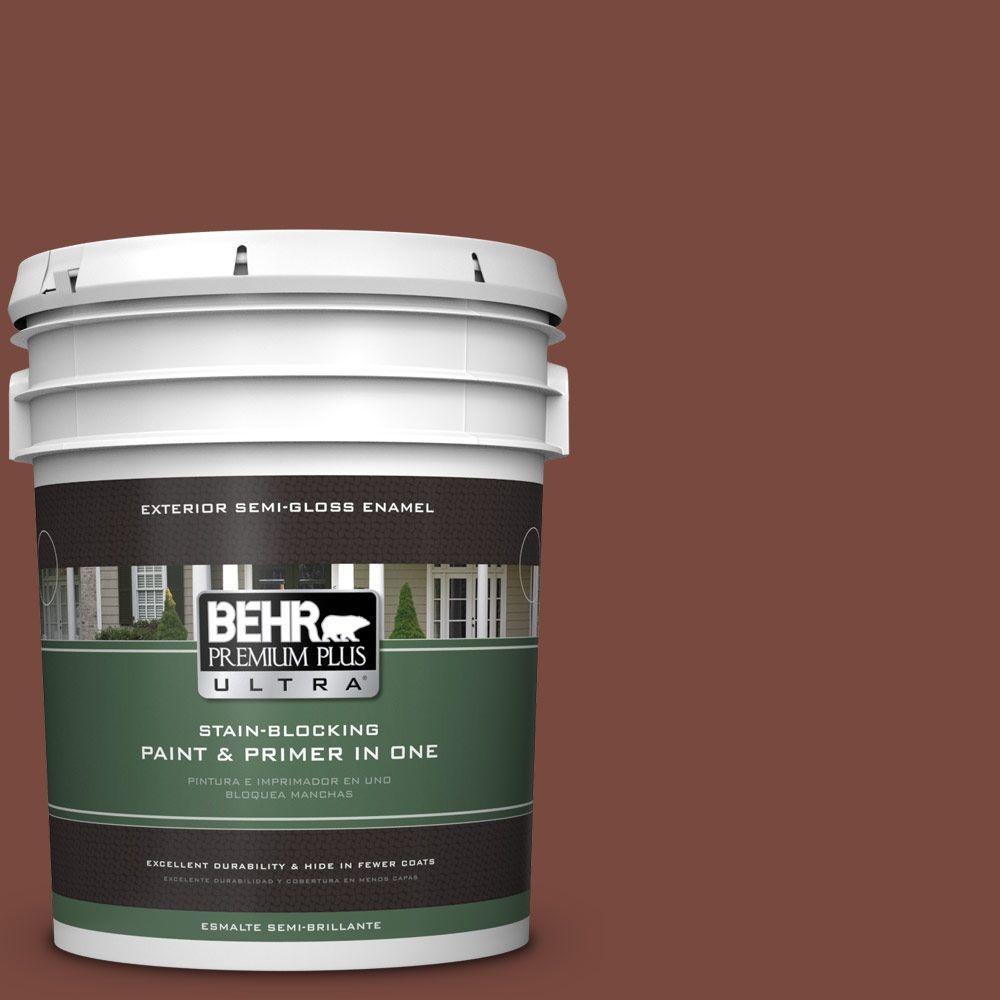 5-gal. #200F-7 Wine Barrel Semi-Gloss Enamel Exterior Paint