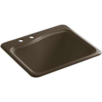 River Falls 25 in. x 22 in. x 14.9375 in. Cast Iron Utility Sink in Suede