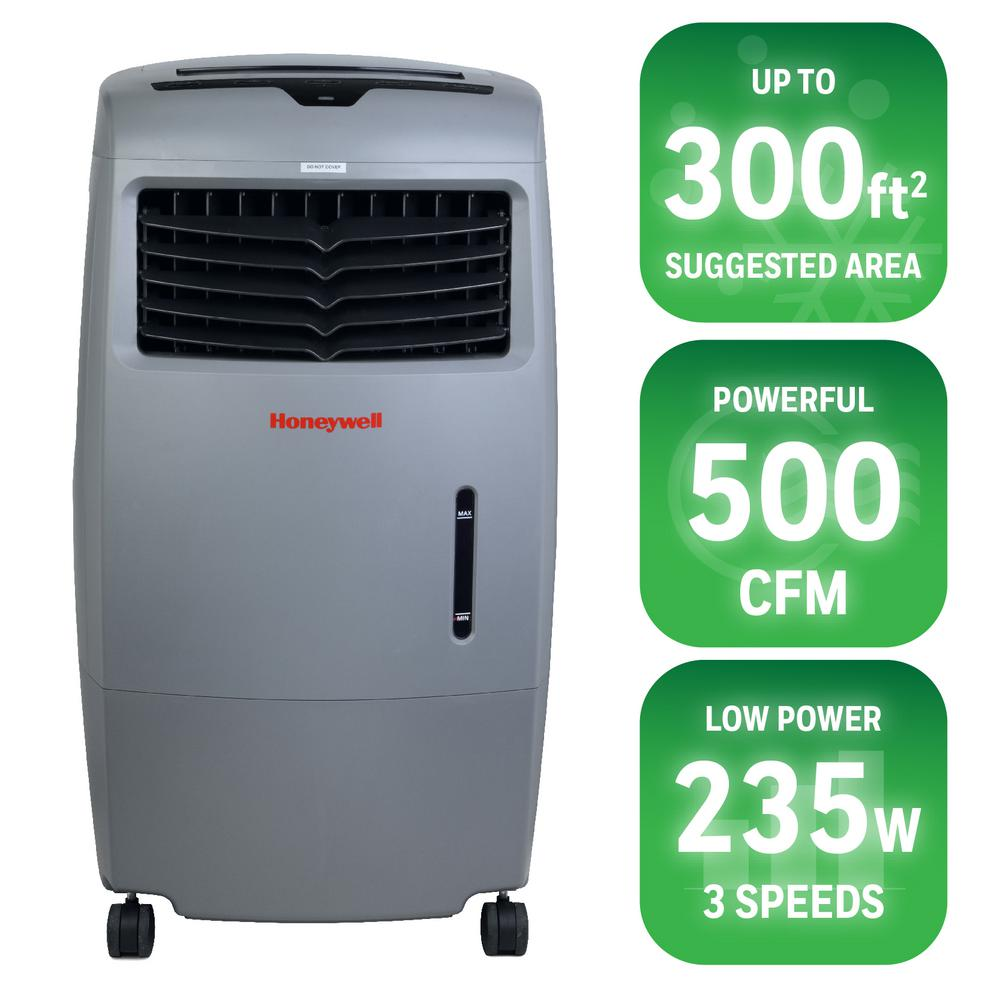 Honeywell 470 CFM 4 Speed Portable Evaporative Cooler For 250 Sq.  Ft. CO25AE   The Home Depot