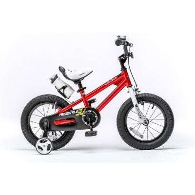 14 in. Wheels Freestyle BMX Kid's Bike, Boy's Bikes and Girl's Bikes with Training Wheels in Red