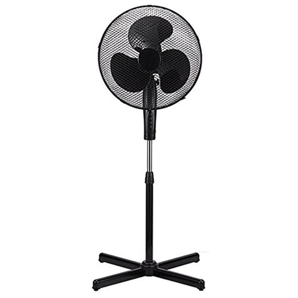 Stand Fan Designs : Boostwaves in black high velocity fan speed