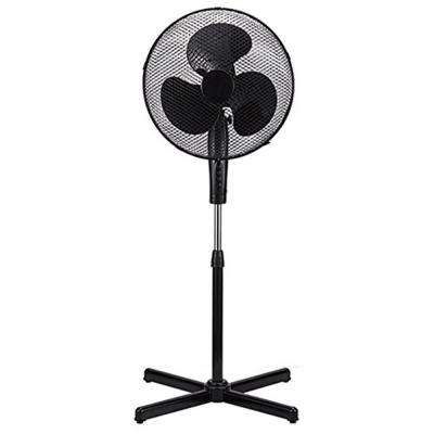 16 in. Black High Velocity Fan 3-Speed Oscillating Standing Floor Adjustable Height - New Modern Design