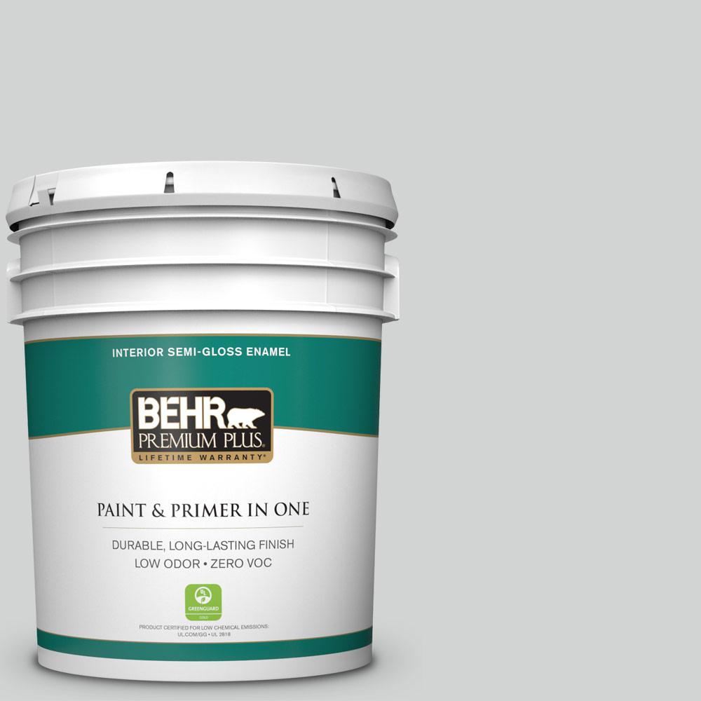 5 gal. #PPU26-11 Platinum Zero VOC Semi-Gloss Enamel Interior Paint