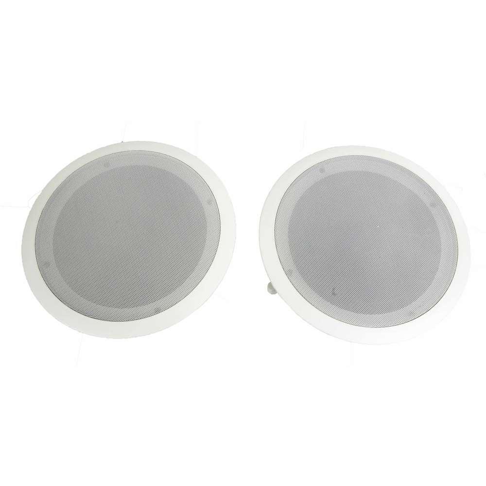 8 in. 500-Watt 2-Way In Wall Ceiling Home Speakers System (Pair) (10-Pack)