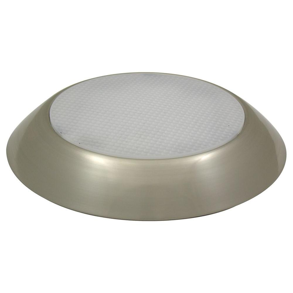 Maxlite Max Lite 1-Light Nickel Faux Recessed Can Flush Mount