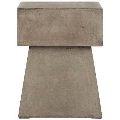 Zen Dark Gray Square Stone Indoor/Outdoor Accent Table