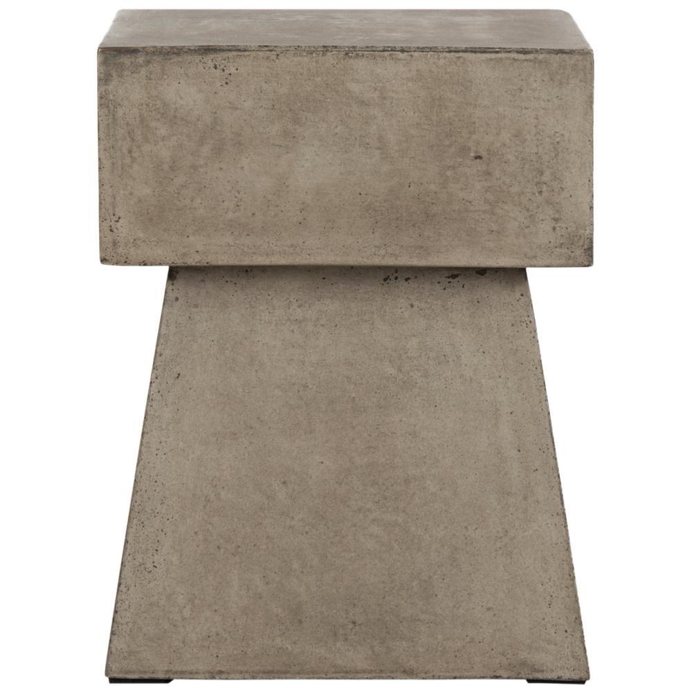 Zen Dark Gray Square Stone Indoor/Outdoor Accent Table