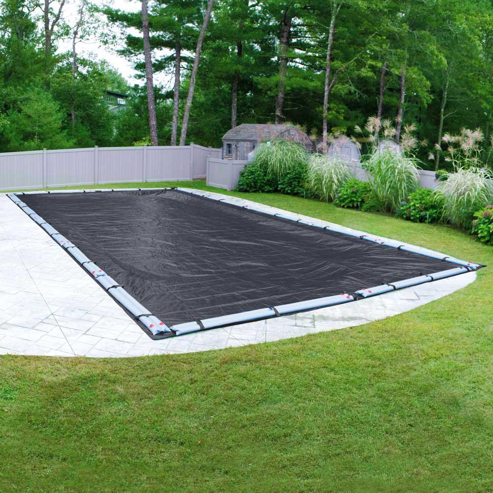 Classic 18 ft. x 40 ft. Rectangular Navy Blue Winter Pool Cover