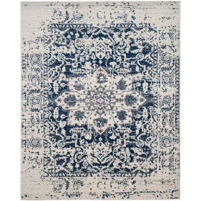 Madison Cream/Navy 9 ft. x 12 ft. Area Rug
