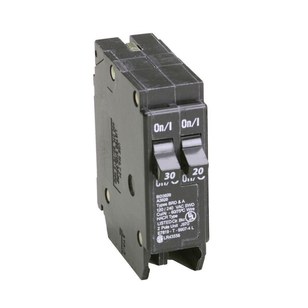 siemens 30 20 amp single pole duplex circuit breaker q3020 the ground fault circuit interrupter wiring diagram bd 1 30 amp 1 20 amp single pole tandem ctl circuit breaker