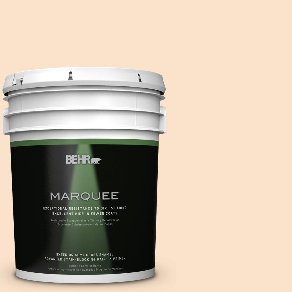 5-gal. #M250-1 Frosting Cream Semi-Gloss Enamel Exterior Paint