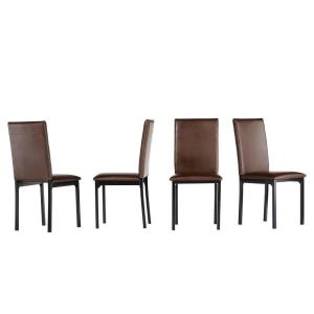 Surprising Homesullivan Fairfield Stone Faux Leather Dining Chair Set Creativecarmelina Interior Chair Design Creativecarmelinacom