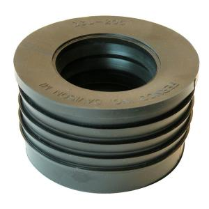 3 inch Service Weight Cast Iron Hub x 2 inch Sch. 40 Plastic Compression Donut by