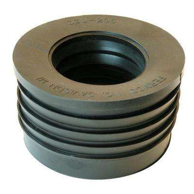 3 in. Service Weight Cast Iron Hub x 2 in. Sch. 40 Plastic Compression Donut