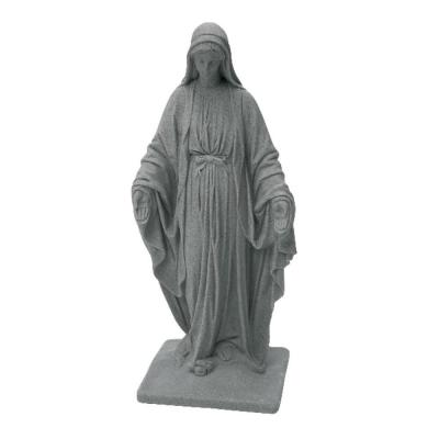 Granite Color High Density Resin Virgin Mary Statue