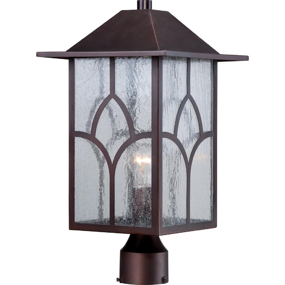Haven 1-Light Rustic Bronze Outdoor Post Light