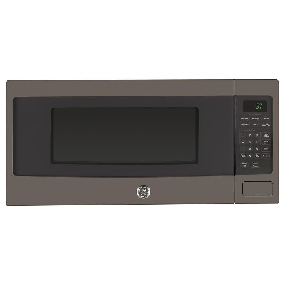 Ge 1 Cu Ft Countertop Microwave Oven In Slate Fingerprint Resistant