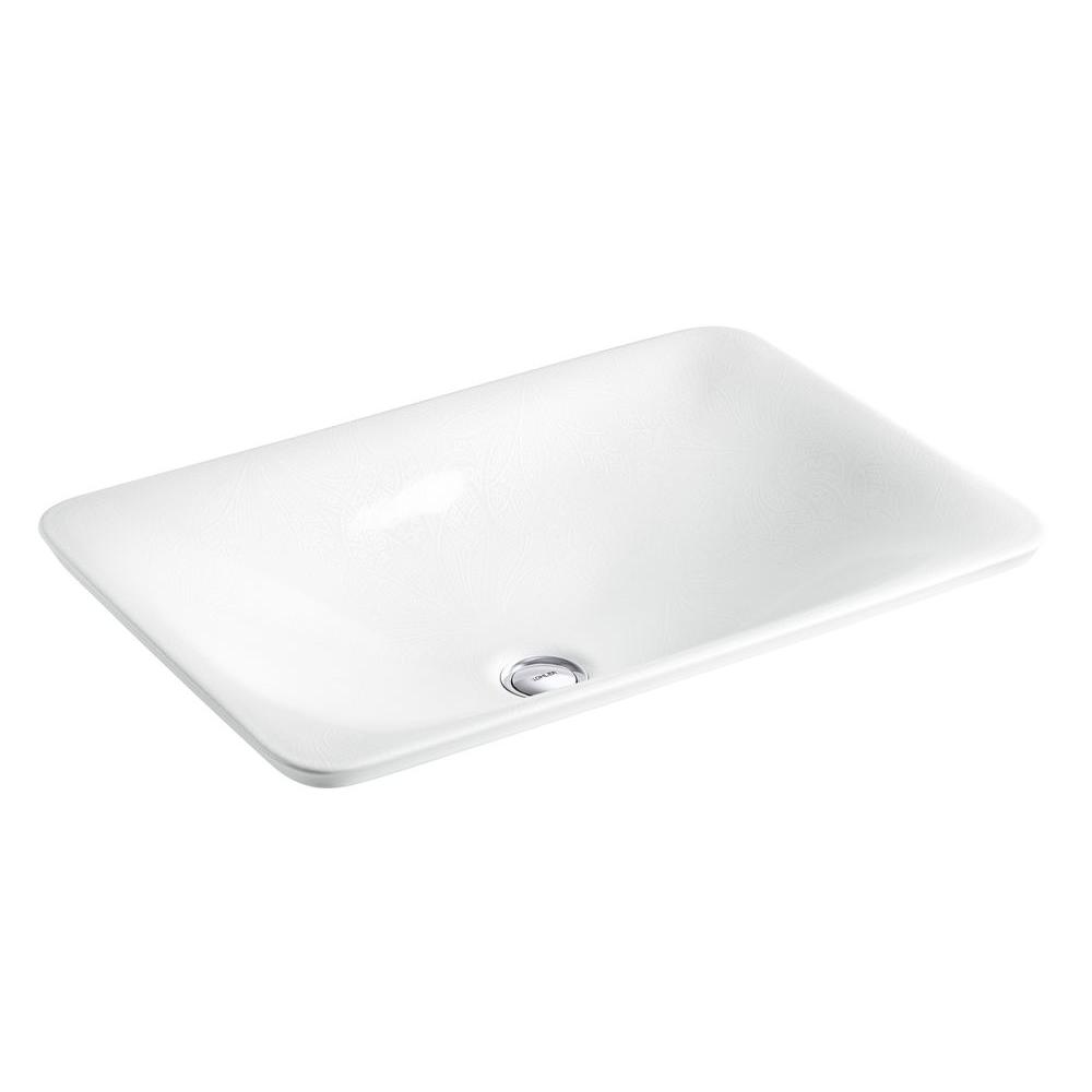 Kohler sartorial above counter bathroom sink in french paisley k 75749 fp1 0 the home depot - Kitchen sink in french ...
