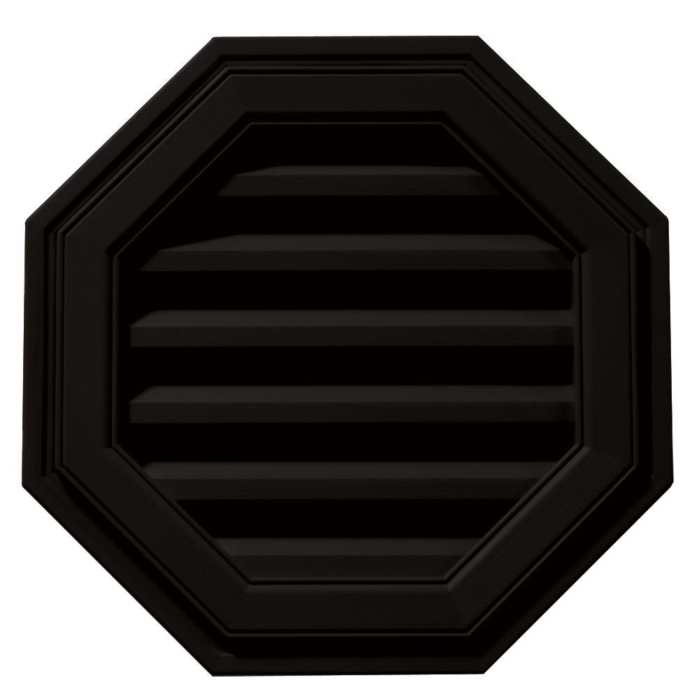 Builders Edge 18 in. Octagon Gable Vent in Black