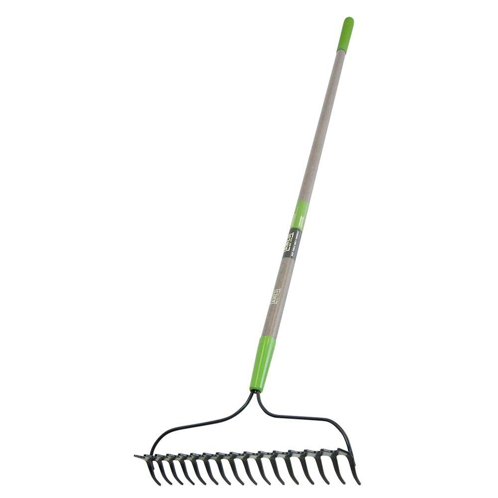 16-Tine Double Play Bow Rake with Fiberglass Handle