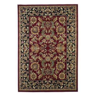 Classic Kashan Red/Black 5 ft. 3 in. x 7 ft. 7 in. Area Rug