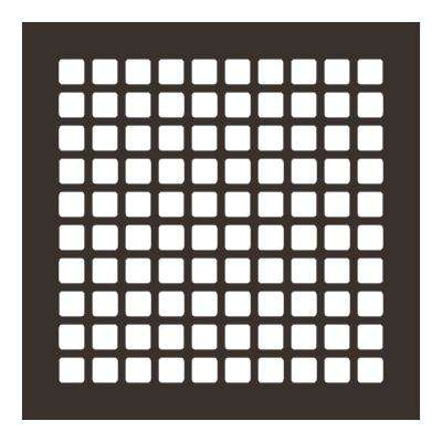 Square Series 10 in. x 10 in. Steel Grille, Oil Rubbed Bronze without Mounting Holes