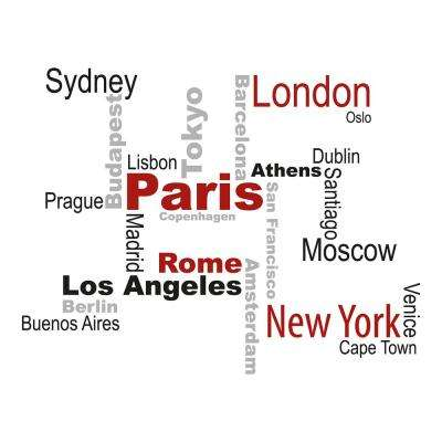 110.2 in. x 39.4 in. Cities Wall Decal