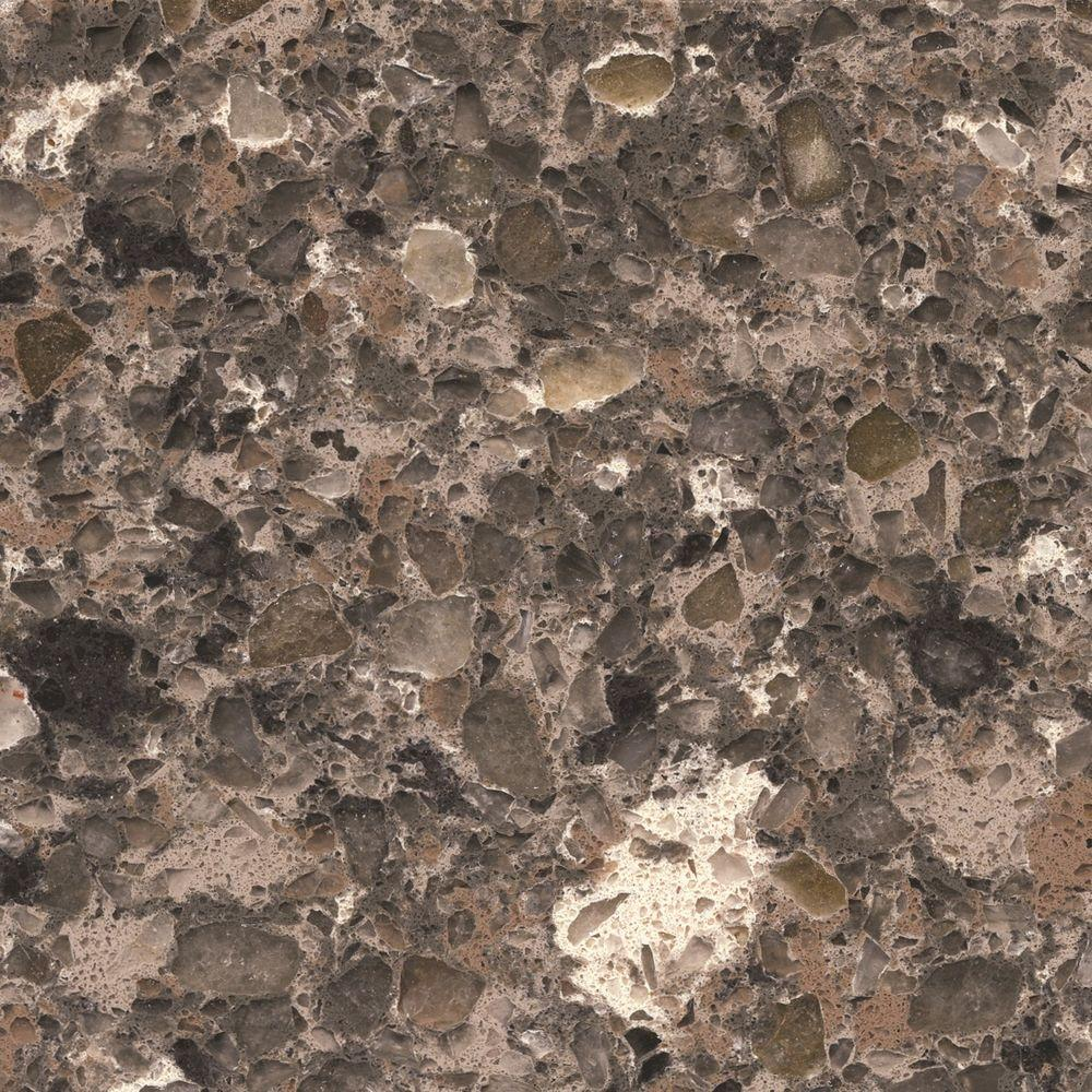 Quartz Countertop Sample In Mountain Mist SS Q0230   The Home Depot
