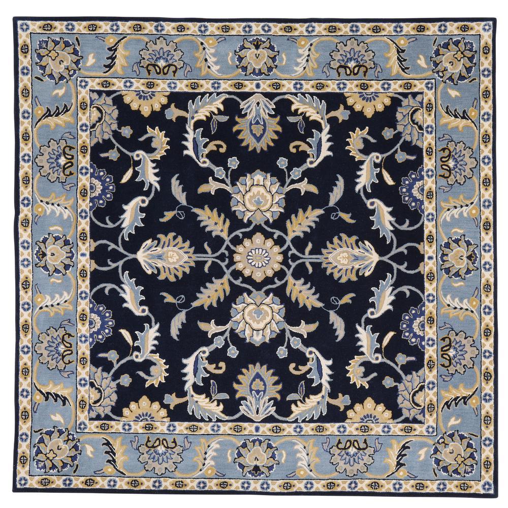 Aristocrat Blue 8 ft. x 8 ft. Square Area Rug