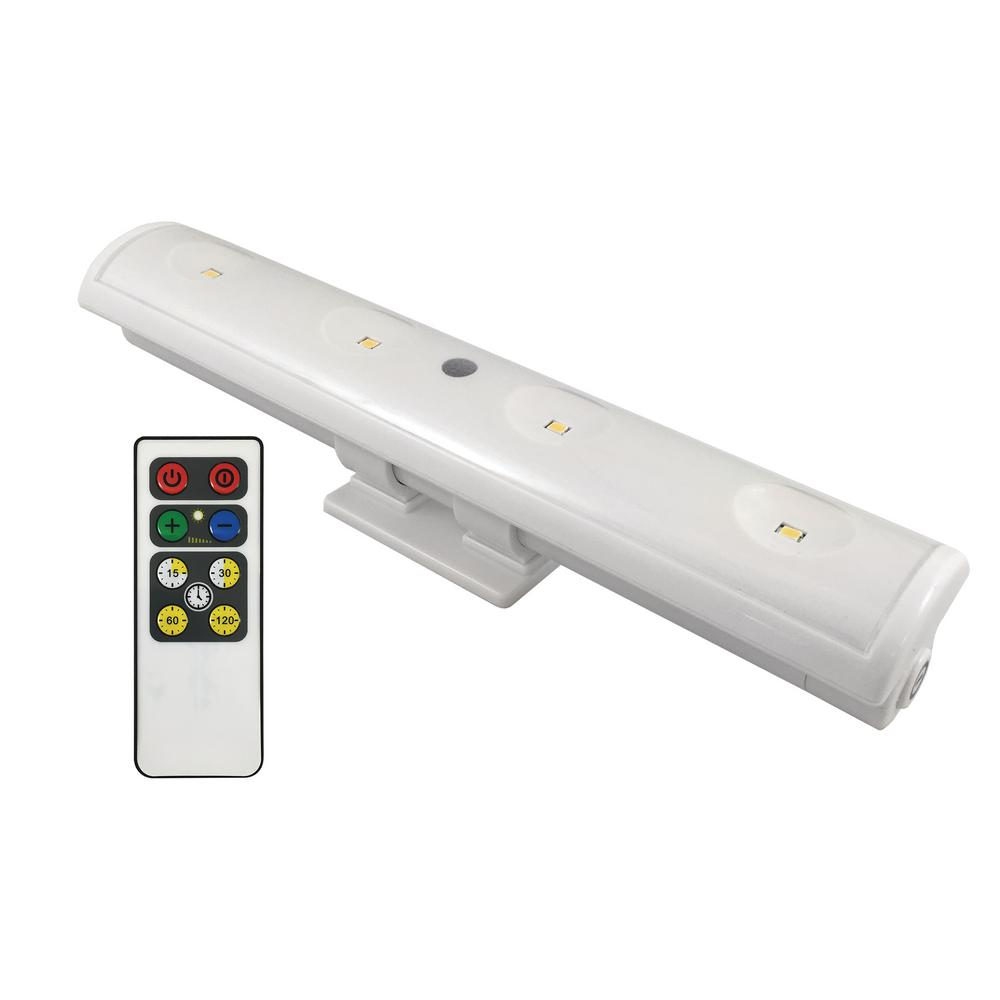 Battery Operated Under Cabinet Lighting Kitchen: Westek 8.5 In. LED White Battery Operated Swivel LED Clamp