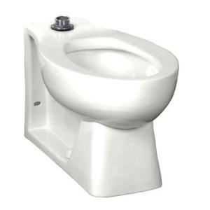 American Standard Huron Tall Height 1.28 to 1.6 GPF Elongated Toilet Bowl Only in White with EverClean Top Spud... by American Standard