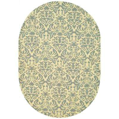 Chelsea Beige Yellow/Gray 4 ft. 6 in. x 6 ft. 6 in. Oval Area Rug