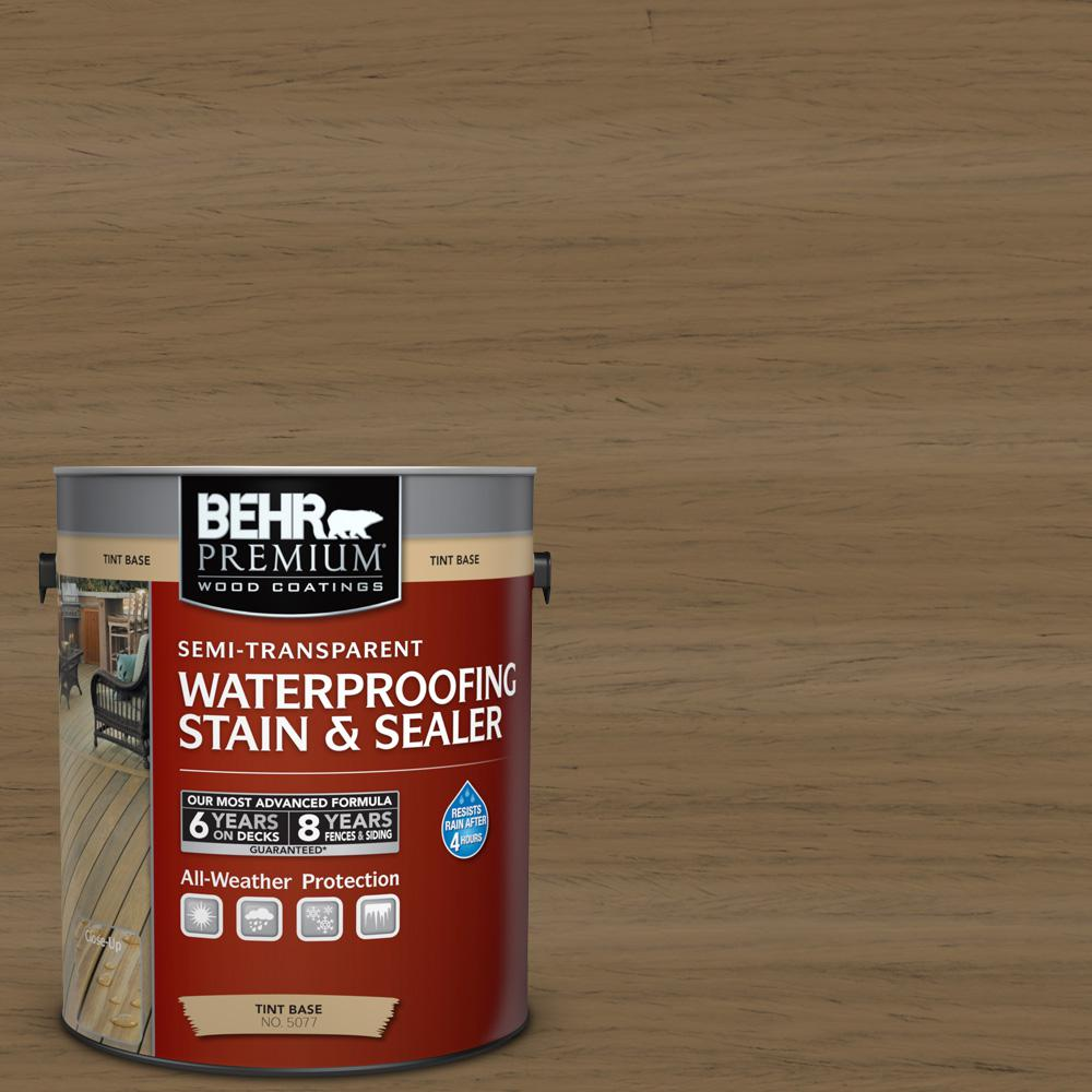 1 gal. #ST-147 Castle Gray Semi-Transparent Waterproofing Exterior Wood Stain