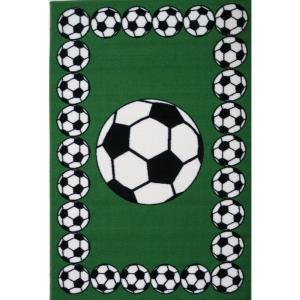 LA Rug Fun Time Soccer Time Multi Colored 19 inch x 29 inch Accent Rug by LA Rug