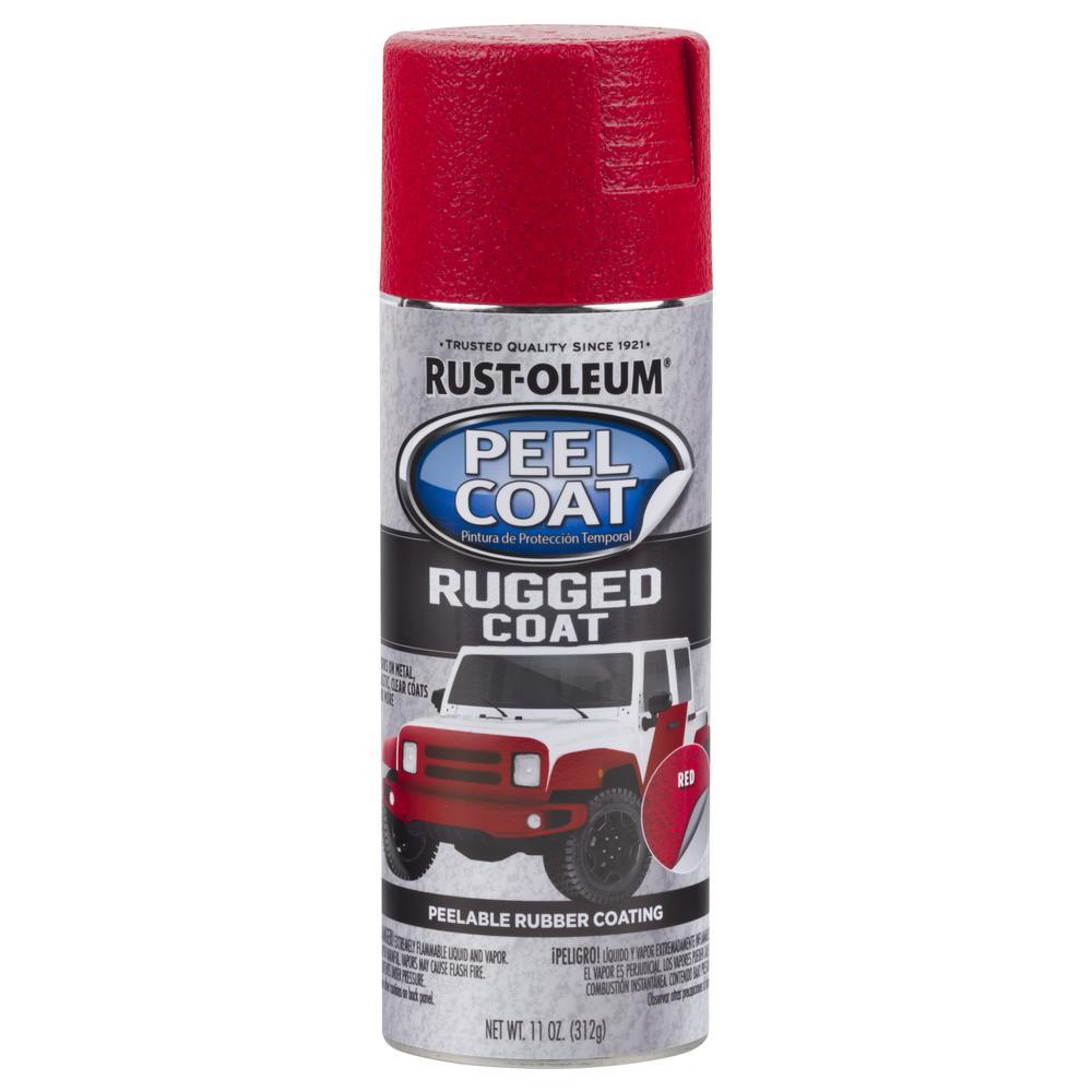 11 oz. Peel Coat Rugged Coat Red Peelable Rubber Coating Spray Paint (6-Pack)