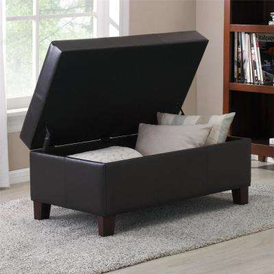 Espresso Rectangle Storage Ottoman