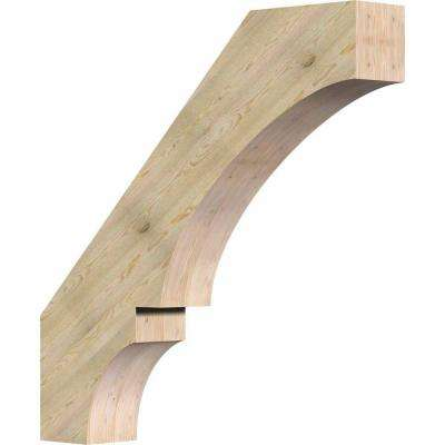 6 in. x 36 in. x 36 in. Douglas Fir Balboa Rough Sawn Brace