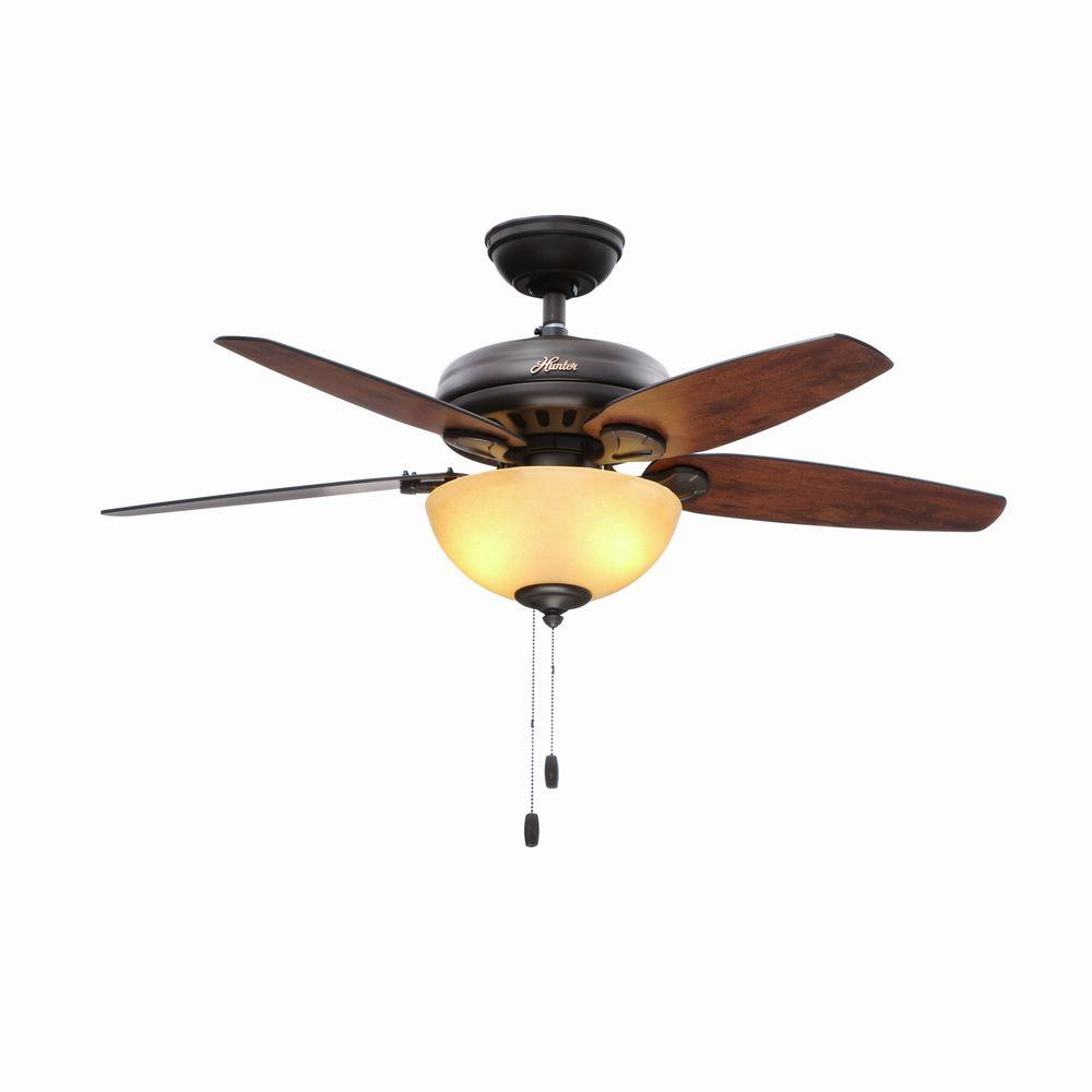 Hunter Fan Company Builder Great Room New Bronze Ceiling: Hunter Stratford 44 In. Indoor New Bronze Ceiling Fan With