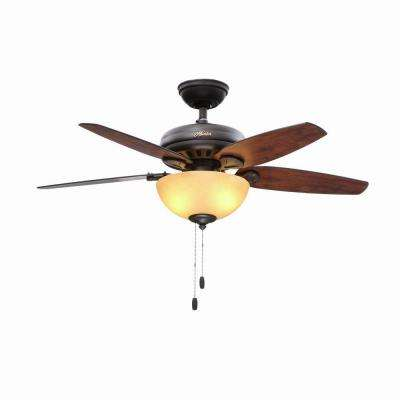 Stratford 44 in. Indoor New Bronze Ceiling Fan with Light