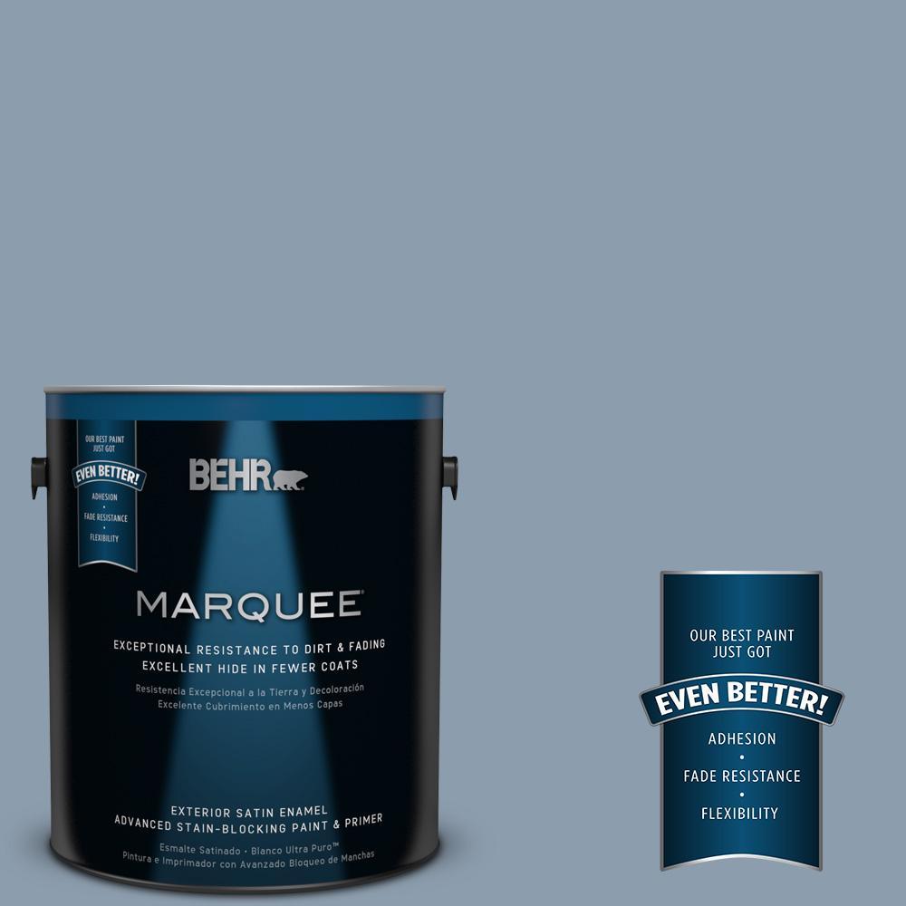 1-gal. #ICC-65 Relaxing Blue Satin Enamel Exterior Paint
