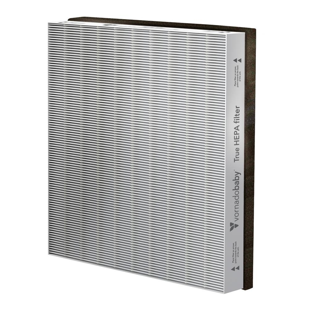 Vornado Purio Air Purifier True Hepa Filter, Grays The MD1-0030 True HEPA Filter is designed for use in the Vornadobaby Purio Air Purifier to remove nasties from the air such as odors, dust and bacteria. Replace your True HEPA Filter every 9,000 hours, depending on use. Using genuine Vornadobaby filters and replacing them at the recommended intervals will ensure Purio Air Purifier runs at optimum performance. Color: Grays.