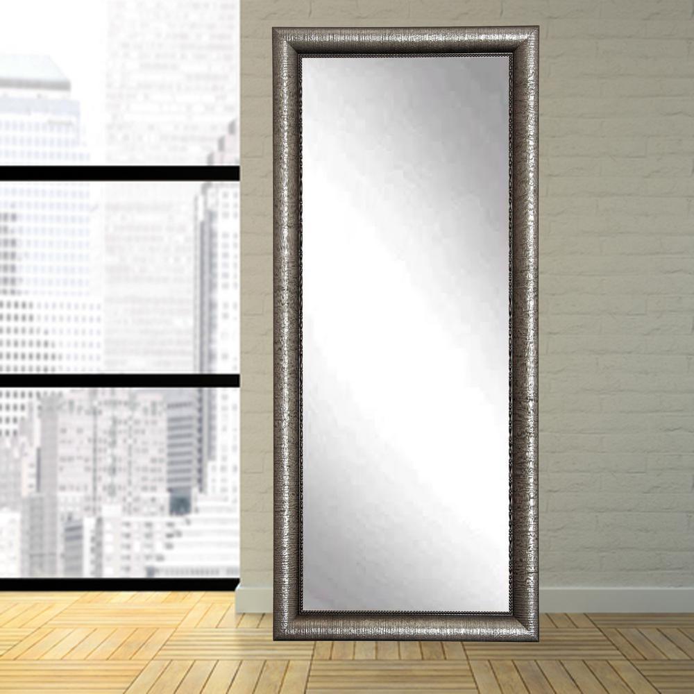 glam metallic tall framed mirror