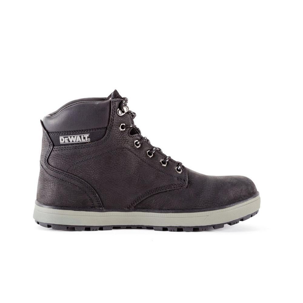 Plasma Men's Black Leather Steel Toe 6 in. Work Boot