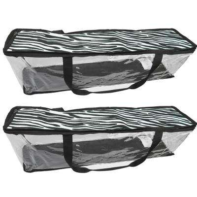 Portable 22 Qt. Print DVD Storage Tote in Zebra (2-Pack)
